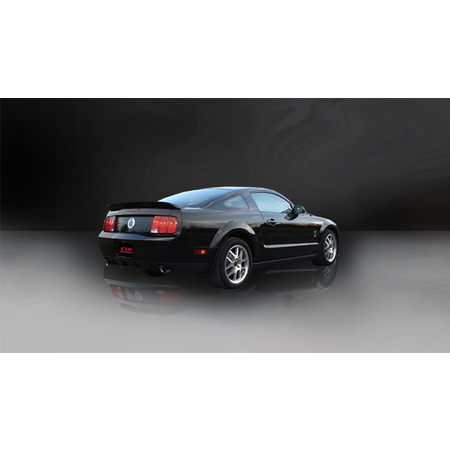 """CORSA 2.5"""" Dual Rear Axle-Back Exhaust 2005-2010 Ford Mustang Shelby GT500 5.4L V8"""