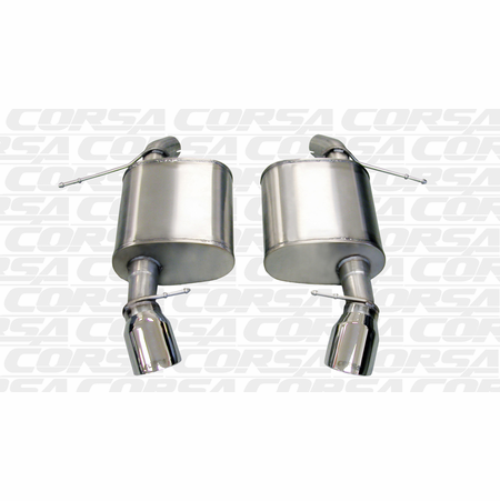 "CORSA 2.5"" Dual Rear Axle-Back Exhaust 2007-2012 BMW 335i E92 Coupe"