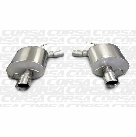 "CORSA 2.5"" Dual Rear Axle-Back Exhaust 2009-2014 Cadillac CTS V Sedan 6.2L V8"