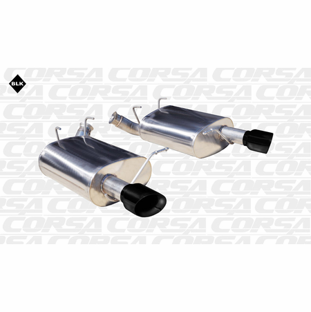"""CORSA 2.5"""" Dual Rear Axle-Back Exhaust 2011-2013 Ford Mustang V6 3.7L V6"""