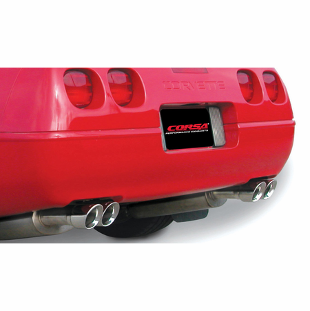 "CORSA 2.5"" Dual Rear Cat-Back Exhaust 1986-1991 Chevrolet Corvette C4 5.7L V8 L98"