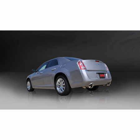 """CORSA 2.5"""" Dual Rear Cat-Back Exhaust 2005-2010 Dodge Charger R/T No Towing Hitch 5.7L V8"""