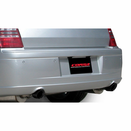 "CORSA 2.5"" Dual Rear Cat-Back Exhaust 2005-2010 Dodge Charger R/T No Towing Hitch 5.7L V8"