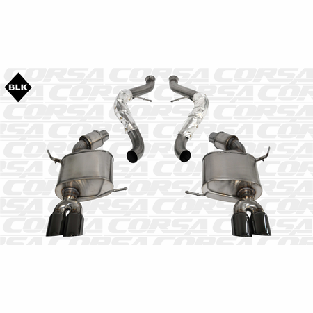 "CORSA 2.5"" Dual Rear Cat-Back Exhaust 2008-2012 BMW M3 E90"