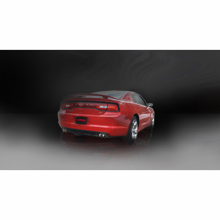 """CORSA 2.5"""" Dual Rear Cat-Back Exhaust 2011-2014 Dodge Charger R/T 5.7L V8"""