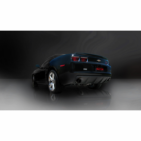"""CORSA 2.5"""" Dual Rear Cat-Back Exhaust + X-Pipe 2010-2014 Chevrolet Camaro SS Coupe 6.2L V8 Auto"""