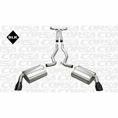"CORSA 2.5"" Dual Rear Cat-Back Exhaust + X-Pipe 2010-2014 Chevrolet Camaro SS Coupe 6.2L V8 Manual"