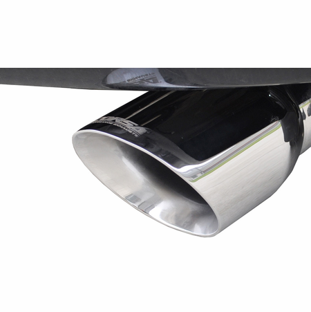 """CORSA 2.75"""" Single Rear Cat-Back Exhaust 2005-2009 Jeep Grand Cherokee Factory Hitch 5.7L V8"""