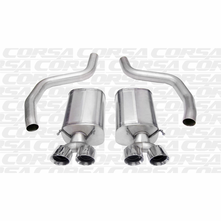 "CORSA 3.0"" Dual Rear Axle-Back Exhaust 2006-2013 Chevrolet Corvette C6 Z06 6.2L V8"