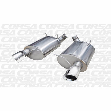 """CORSA 3.0"""" Dual Rear Axle-Back Exhaust 2011-2012 Ford Mustang Shelby GT500 5.4L V8"""