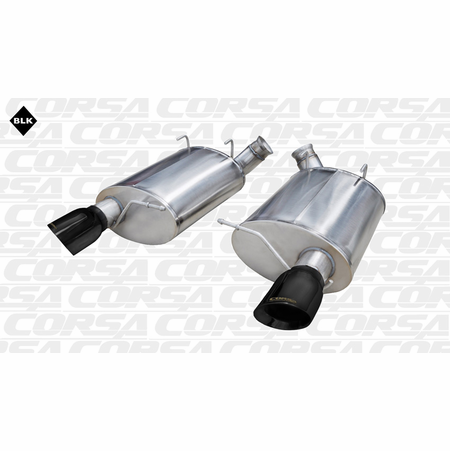 "CORSA 3.0"" Dual Rear Axle-Back Exhaust 2011-2012 Ford Mustang Shelby GT500 5.4L V8"
