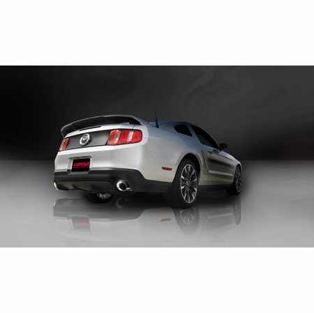 """CORSA 3.0"""" Dual Rear Axle-Back Exhaust 2011-2014 Ford Mustang GT 5.0L V8"""