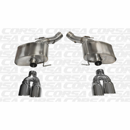 "CORSA 3.0"" Dual Rear Axle-Back Exhaust 2012-2013 BMW M5 F10"
