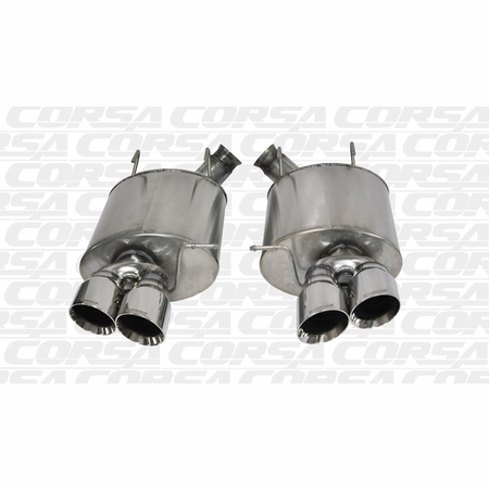 "CORSA 3.0"" Dual Rear Axle-Back Exhaust 2013-2014 Ford Mustang Shelby GT500 5.8L V8"