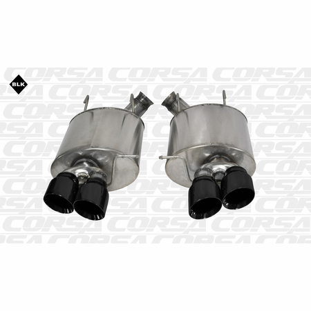 """CORSA 3.0"""" Dual Rear Axle-Back Exhaust 2013-2014 Ford Mustang Shelby GT500 5.8L V8"""