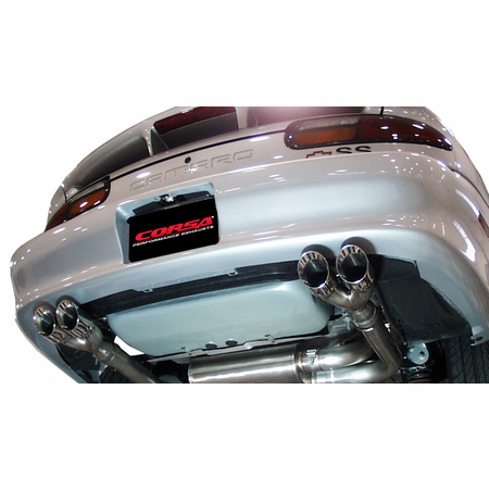 "CORSA 3.0"" Dual Rear Cat-Back Exhaust 1998-2002 Chevrolet Camaro Z28 Convertible 5.7L V8 LS1"