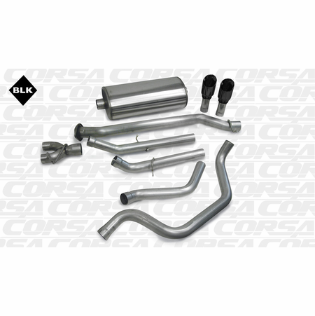 "CORSA 3.0"" Dual Rear Cat-Back Exhaust 1999-2007 Chevrolet Silverado 1500 Extended Cab/Short Bed 4.8L V8 133.9"""