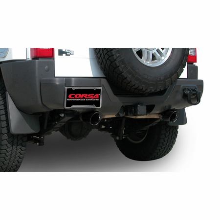 "CORSA 3.0"" Dual Rear Cat-Back Exhaust 2006-2008 Hummer H3 3.7L"