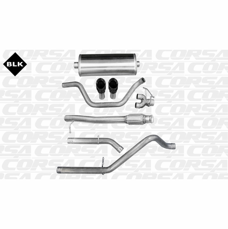 "CORSA 3.0"" Dual Rear Cat-Back Exhaust 2009-2013 Chevrolet Silverado 1500 Regular Cab/Long Bed 4.8L V8 133"""