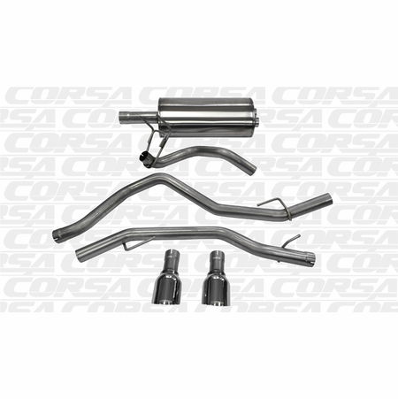 "CORSA 3.0"" Dual Rear Cat-Back Exhaust 2009-2014 Dodge Ram 1500 Crew Cab/Short Bed 4.7L V8 140"""