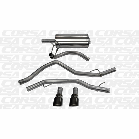 "CORSA 3.0"" Dual Rear Cat-Back Exhaust 2009-2014 Dodge Ram 1500 Quad Cab/Short Bed 4.7L V8 140"""