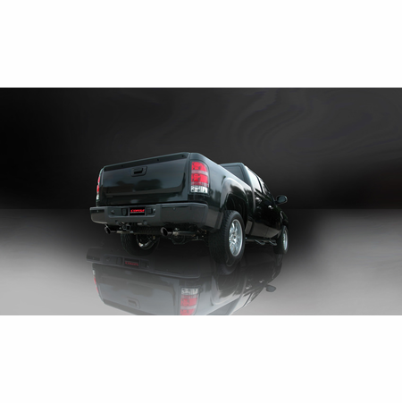 """CORSA 3.0"""" Dual Rear Cat-Back Exhaust 2010-2010 GMC Sierra 1500 Extended Cab/Standard Bed 6.2L V8 143.5"""""""