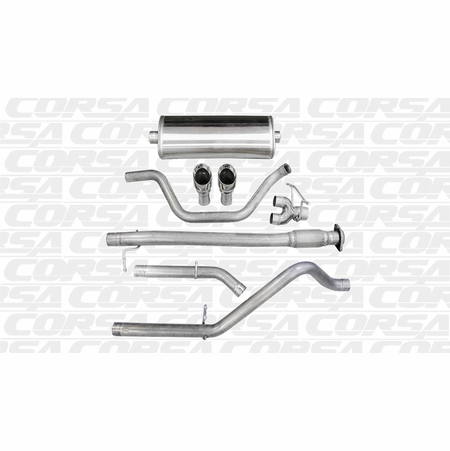 "CORSA 3.0"" Dual Rear Cat-Back Exhaust 2010-2010 Chevrolet Silverado 1500 Extended Cab/Standard Bed 6.2L V8 143.5"""