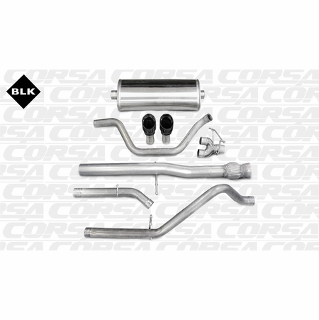 "CORSA 3.0"" Dual Rear Cat-Back Exhaust 2011-2013 GMC Sierra Denali 1500 Extended Cab/Standard Bed 6.2L V8 143.5"""
