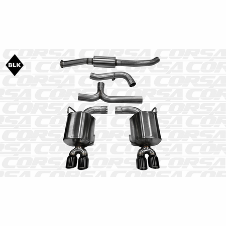 "CORSA 3.0"" Dual Rear Cat-Back Exhaust 2011-2013 Subaru Impreza WRX Sedan 2.5L Turbo Auto"