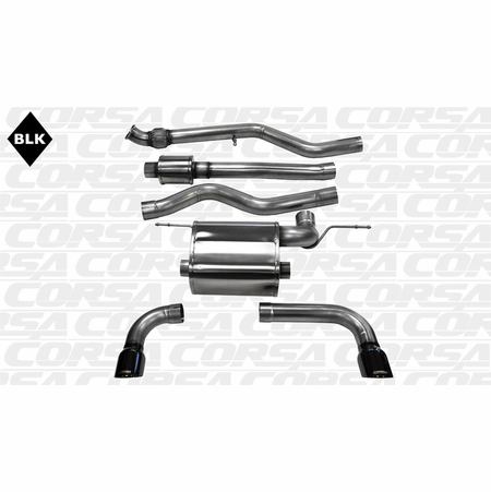 "CORSA 3.0"" Dual Rear Cat-Back Exhaust 2012-2014 BMW 335i F30 Sedan All Wheel Drive"