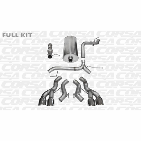 "CORSA 3.0"" Dual Rear Cat-Back Exhaust 2012-2014 Cadillac Escalade ESV DUB 6.2L V8"