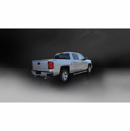 "CORSA 3.0"" Dual Rear Cat-Back Exhaust 2014-2014 Chevrolet Silverado 1500 Double Cab/Standard Bed 5.3L V8 Manual 143.5"""