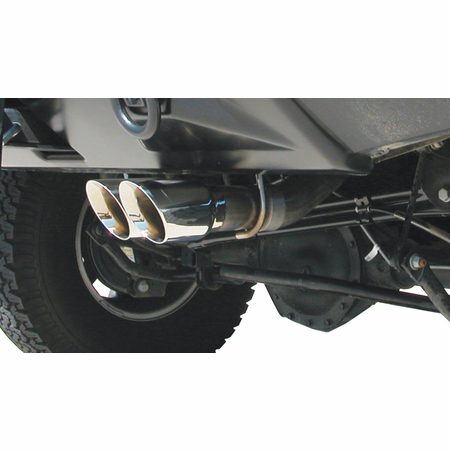 "CORSA 3.0"" Single Rear Cat-Back Exhaust 2003-2006 Hummer H2 6.0L V8"