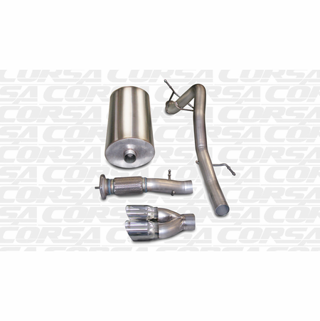 "CORSA 3.0"" Single Rear Cat-Back Exhaust 2007-2010 Cadillac Escalade EXT 6.2L V8"