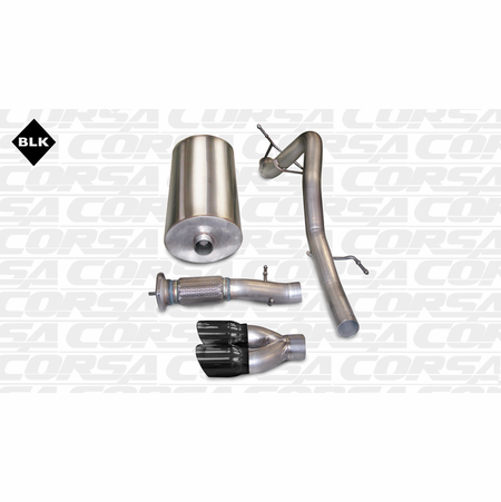 "CORSA 3.0"" Single Rear Cat-Back Exhaust 2007-2010 Cadillac Escalade ESV 6.2L V8"