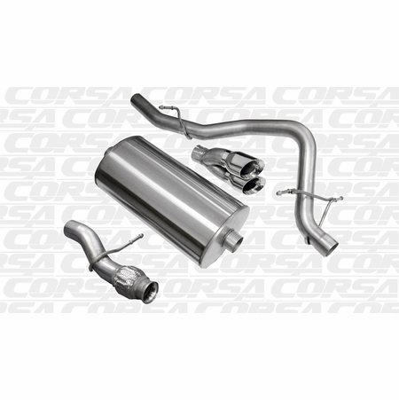 "CORSA 3.0"" Single Rear Cat-Back Exhaust 2009-2014 Chevrolet Tahoe 5.3L V8"