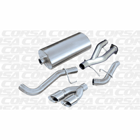 "CORSA 3.0"" Single Side Cat-Back Exhaust 2000-2000 Chevrolet Tahoe 5.3L V8"