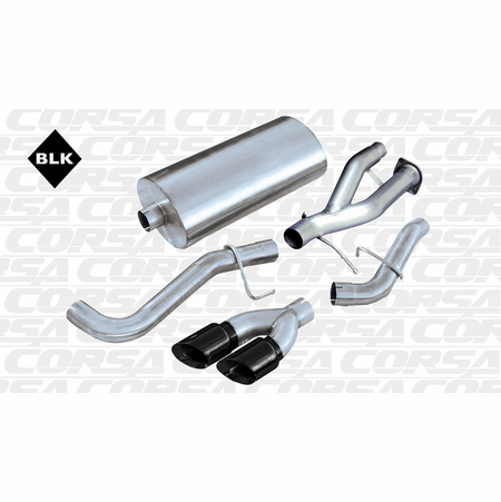 "CORSA 3.0"" Single Side Cat-Back Exhaust 2002-2006 Cadillac Escalade EXT 6.0L V8"