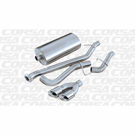 "CORSA 3.0"" Single Side Cat-Back Exhaust 2002-2006 Chevrolet Avalanche 5.3L V8"