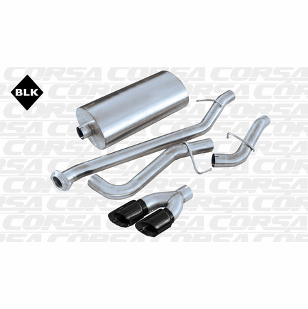 "CORSA 3.0"" Single Side Cat-Back Exhaust 2002-2007 GMC Sierra 1500 Regular Cab/Long Bed 4.8L V8 133"""