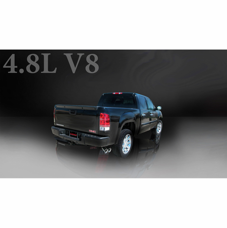 "CORSA 3.0"" Single Side Cat-Back Exhaust 2002-2007 Chevrolet Silverado 1500 Regular Cab/Short Bed 4.8L V8 119"""