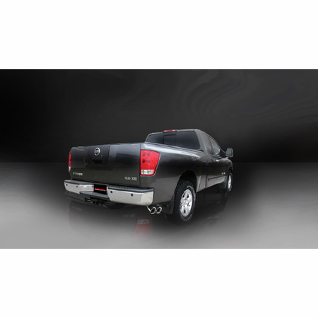 "CORSA 3.0"" Single Side Cat-Back Exhaust 2004-2006 Nissan Titan Extended Cab/Short Bed 5.6L V8"