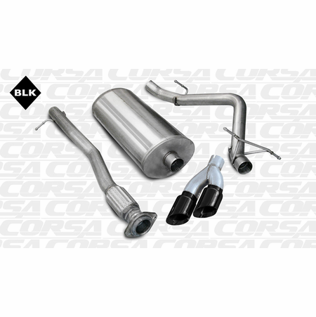 "CORSA 3.0"" Single Side Cat-Back Exhaust 2007-2008 Chevrolet Silverado 1500 Crew Cab/Short Bed 5.3L V8 143.5"""