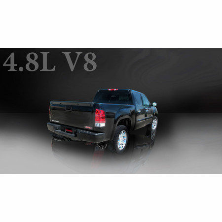 "CORSA 3.0"" Single Side Cat-Back Exhaust 2007-2008 Chevrolet Silverado 1500 Extended Cab/Standard Bed 4.8L V8 143.5"""