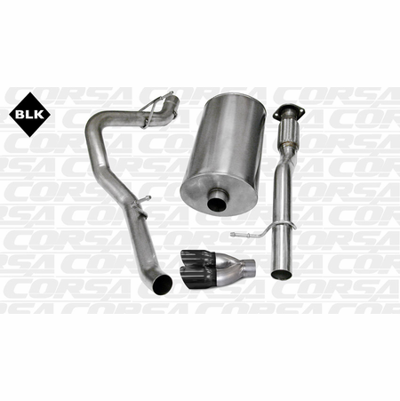 "CORSA 3.0"" Single Side Cat-Back Exhaust 2007-2008 Chevrolet Avalanche 6.0L V8"