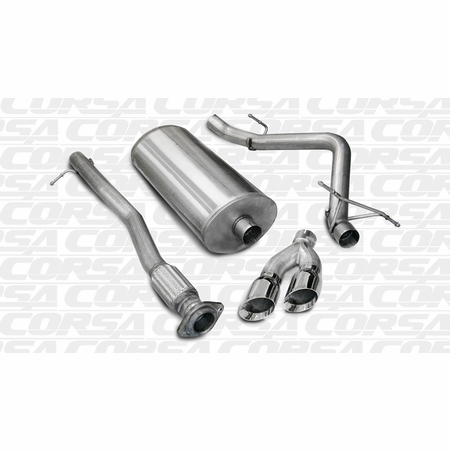 "CORSA 3.0"" Single Side Cat-Back Exhaust 2007-2008 GMC Sierra 1500 Crew Cab/Short Bed 4.8L V8 143.5"""