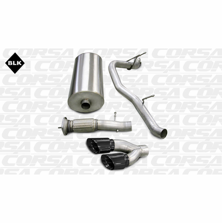 "CORSA 3.0"" Single Side Cat-Back Exhaust 2007-2010 Cadillac Escalade Escalade 6.2L V8"