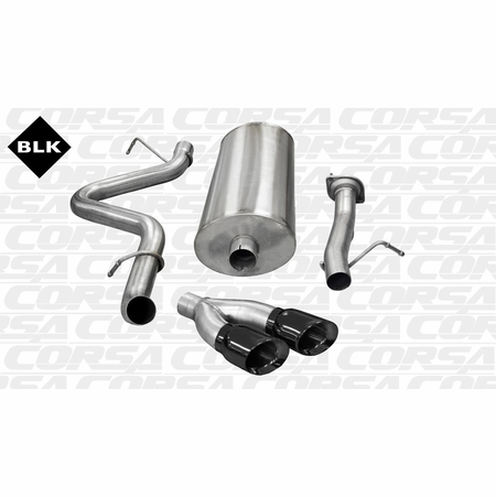 "CORSA 3.0"" Single Side Cat-Back Exhaust 2007-2010 Chevrolet Silverado 2500 Extended Cab/Standard Bed 6.0L V8 143.5"""
