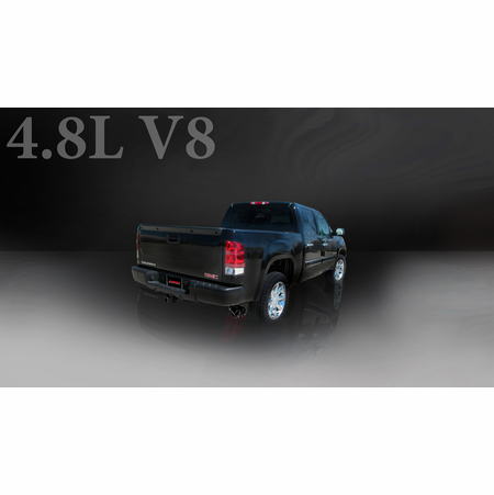"CORSA 3.0"" Single Side Cat-Back Exhaust 2009-2009 Chevrolet Silverado 1500 Extended Cab/Standard Bed 4.8L V8 143.5"""