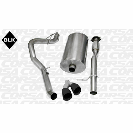 "CORSA 3.0"" Single Side Cat-Back Exhaust 2009-2013 GMC Yukon XL 1500 5.3L V8"